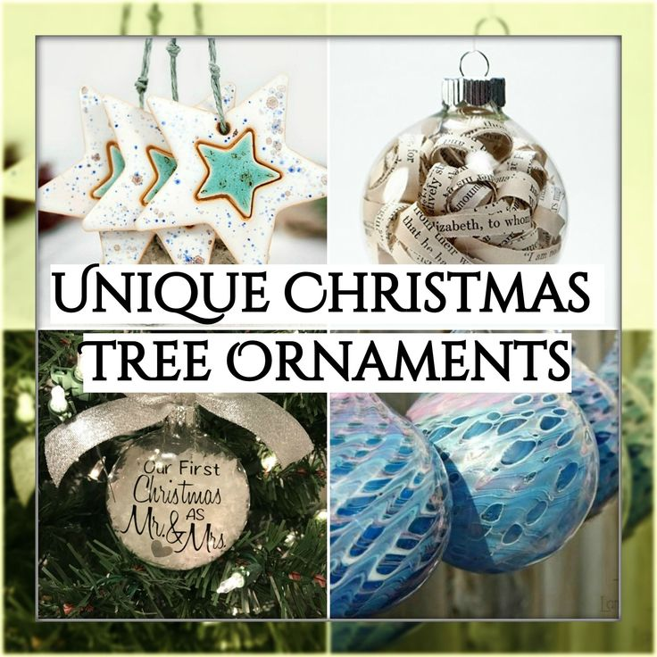 Unique Christmas Tree Ornaments... I love the idea of gifting Christmas ornaments. Spoil yourself and your tree with one of these unique ornaments or gift..