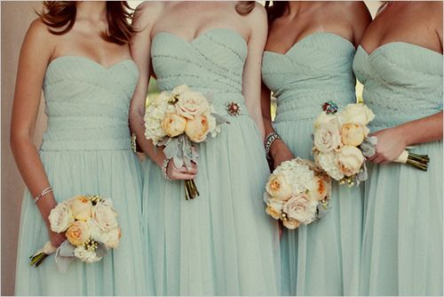 Dusty blue bridesmaids dresses - BCBG