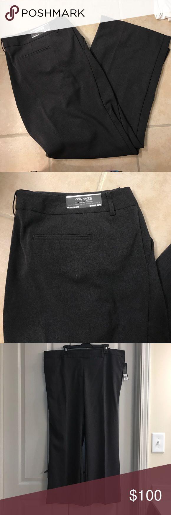 NWT Size 20W Daisy Fuentes grey straight leg pants NWT Size 20W Daisy Fuentes grey straight leg pants Daisy Fuentes Pants Straight Leg