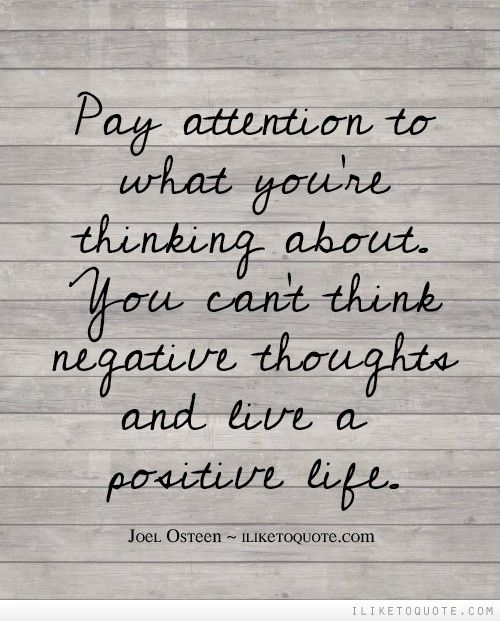 Pay Attention To What You're Thinking About. You Can't