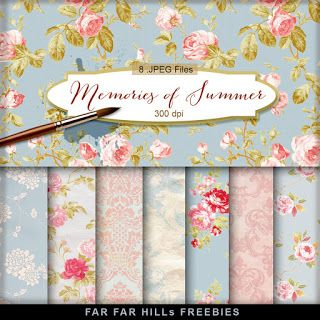 New Freebies Kit of Backgrounds - Memories of Summer:Far Far Hill - Free database of digital illustrations and papers
