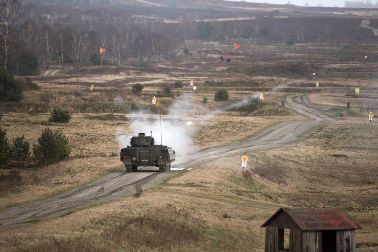 German Army Puma IFV lets loose a few 30mm rounds downrange [5184 x 3456]