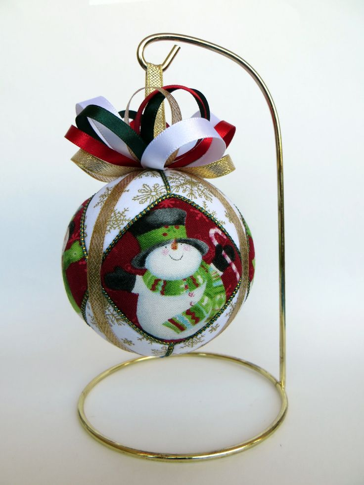 Christmas Ornament - Snowman by OrnamentDesigns on Etsy
