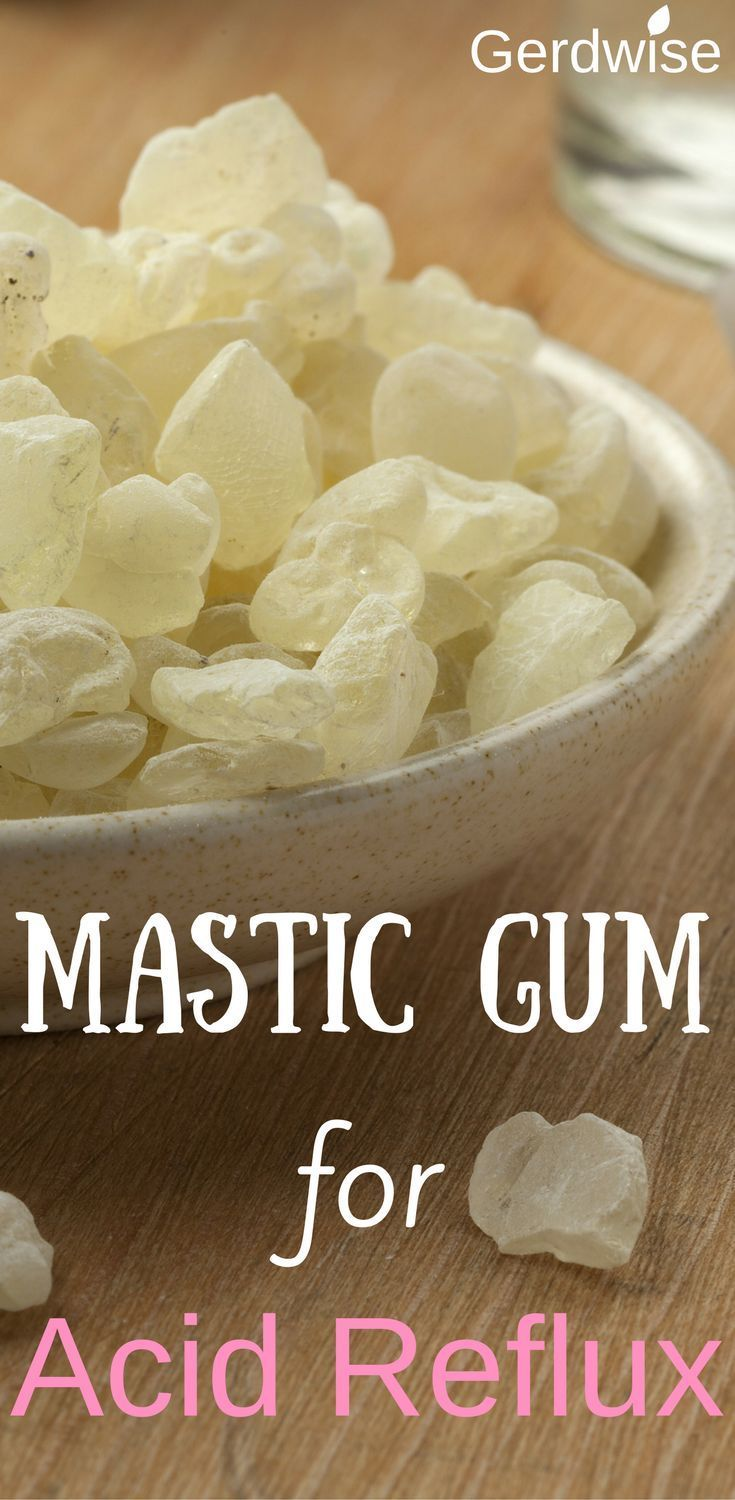 Mastic Gum for Acid Reflux. Read this article to find out about how saliva plays a big role in clearing the throat of acid. Chewing mastic gum after a meal can relieve heartburn.