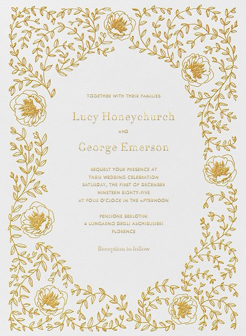 Sylvia I By Paperless Post. Customize Online Floral Wedding Invitations  With Easy To