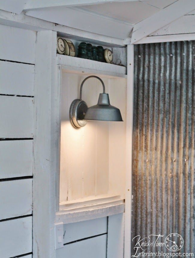 Industrial Lighting in the Guest Room via Knick of Time @ http://knickoftimeinteriors.blogspot.com/
