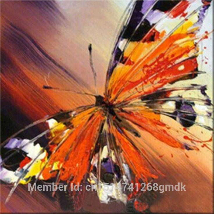 Schne Leinwand Lgemlde Handgemalte Schmetterling Wandkunst Wand Bilder Fr WohnzimmerChina Mainland