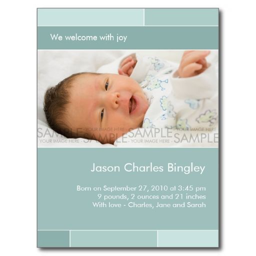 1348 best New Baby Announcement Postcards images – Sample Baby Announcement