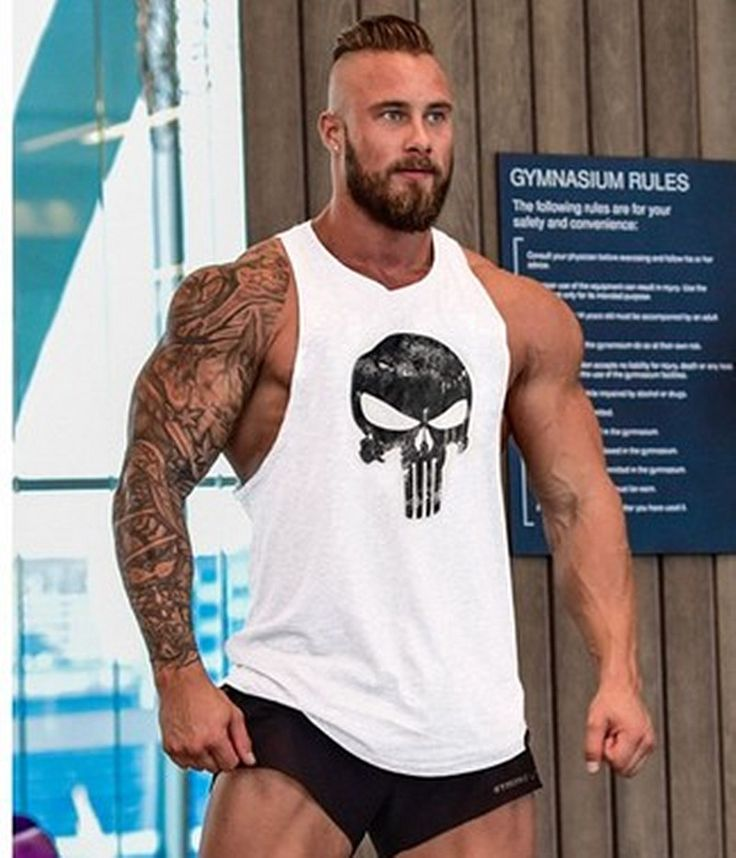 SIZE CHART AVAILABLE IN THE PICTURES Item Type: Tank Tops Gender: Men Pattern Type: Print Fabric Type: Broadcloth Hooded: No Material: Cotton SIZE: M /L /XL / XXL COLOR: black/white/gray/red Limited T