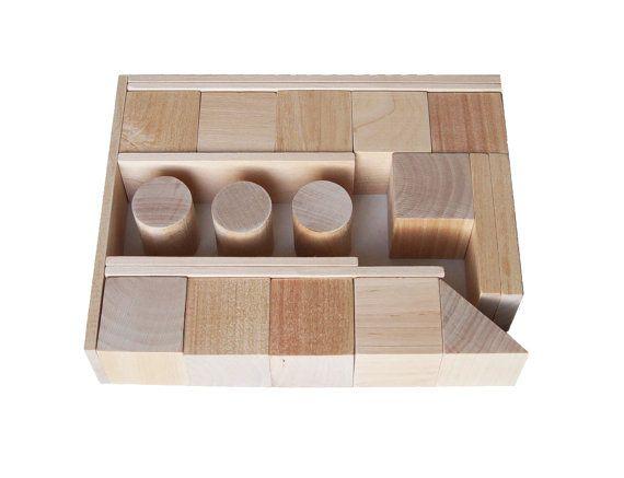 Children's Wooden Blocks 22 details Handmade Wooden от AndrGreen