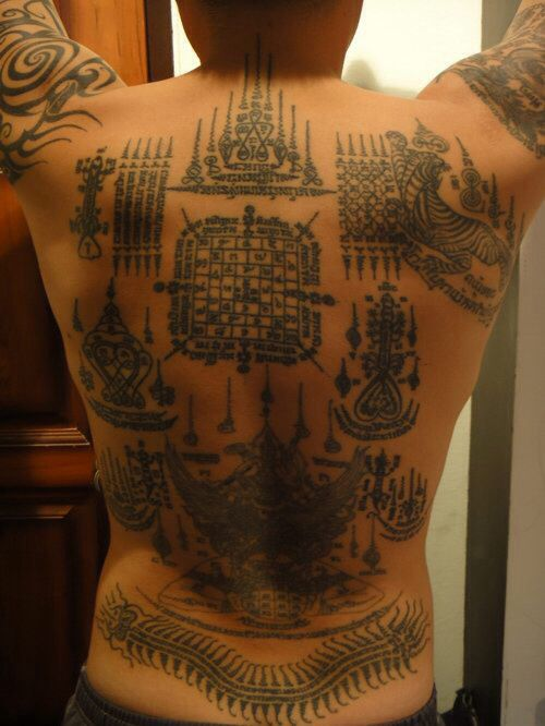 83+ Sak Yant Thai Temple Tattoos Sakyant Tattoos 13 - Sak ...