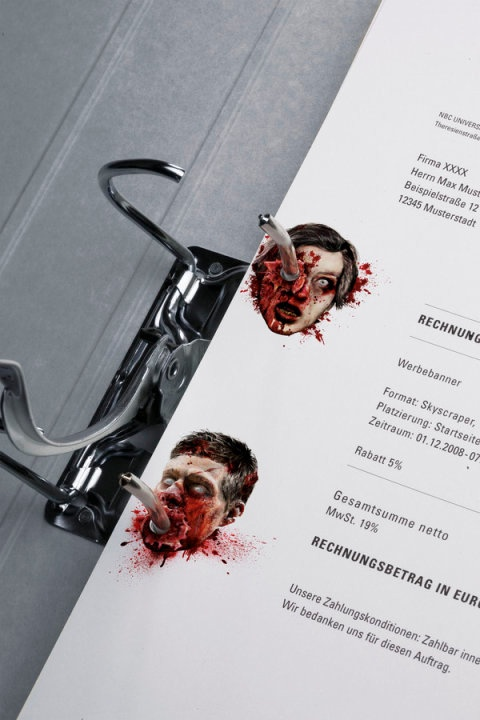Stationery of Horror- A bloodthirsty corporate design for Germany's most famous crime and horror channel. - for more: https://www.facebook.com/groups/37626637778/
