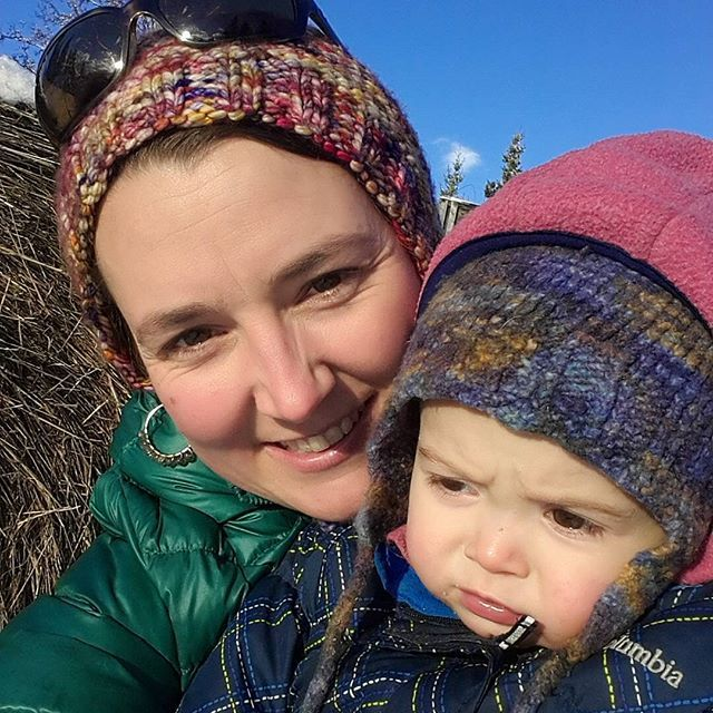 Sparrow and I on a snowy walk to the high tunnel to pick the last of the greens. #homesteadkitchen #homestead #food #garden #sustainablefood #sustainable #healthyfood #alaskatlf #alaska #alaskathelastfrontier #thekilchers