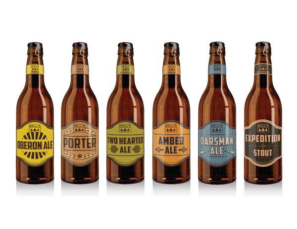 Bell's Beer by Arina Anoschenko, via Behance