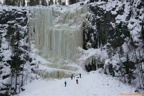 Korouoma canyon is the best ice climbing destination in Finland