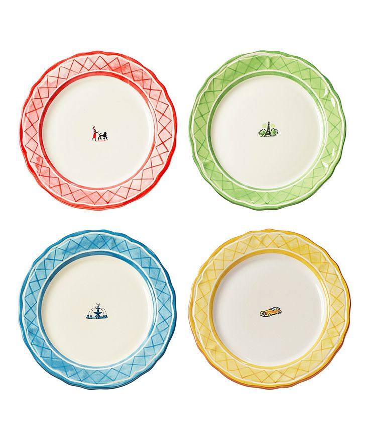 'An American in Paris' Dinner Plate - Set of Four