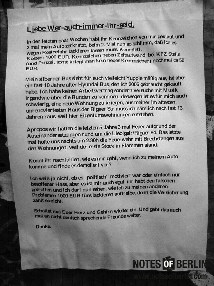 Rigaer Straße   #Friedrichshain // Mehr #NOTES findet ihr auf www.notesofberlin.com