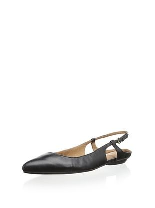 52% OFF Corso Como Women's Tuxe Pointed Toe Slingback Flat (Black Silk Calf)