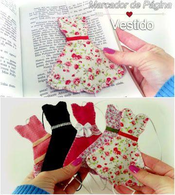 Knanda Artes: Marcador de Página Vestido - DIY Bookmark