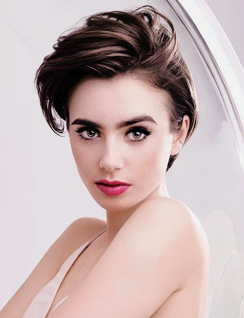 17 best ideas about lily collins haircut on pinterest