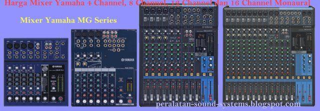 Harga Mixer Yamaha 4 Channel, 8 Channel, 12 Channel dan 16 Channel
