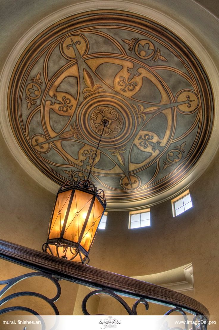 incredible ceiling treatment by Imago Dei murals
