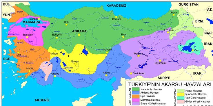 Türkiye'de ki Akarsu havzaları, Açık ve Kapalı havza ne demek, ülkemizdeki açık ve kapalı havzalar  http://kpssdelisi.com/question/turkiyedeki-havzalar-acik-havza-ve-kapali-havza/