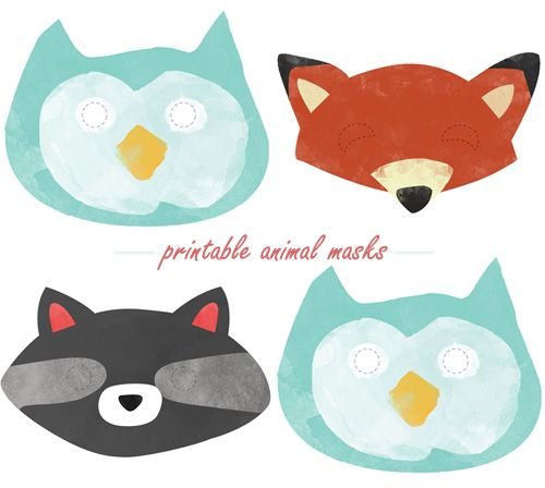 Animal masks- woodland themed baby shower