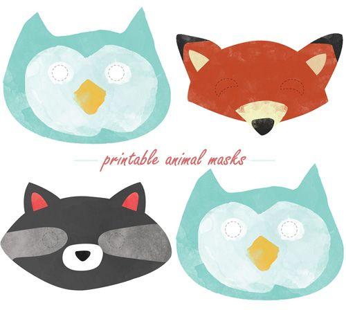 Animal masks- woodland themed baby shower