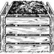 Pallet compostbak, doe het zelf bouwtekening.