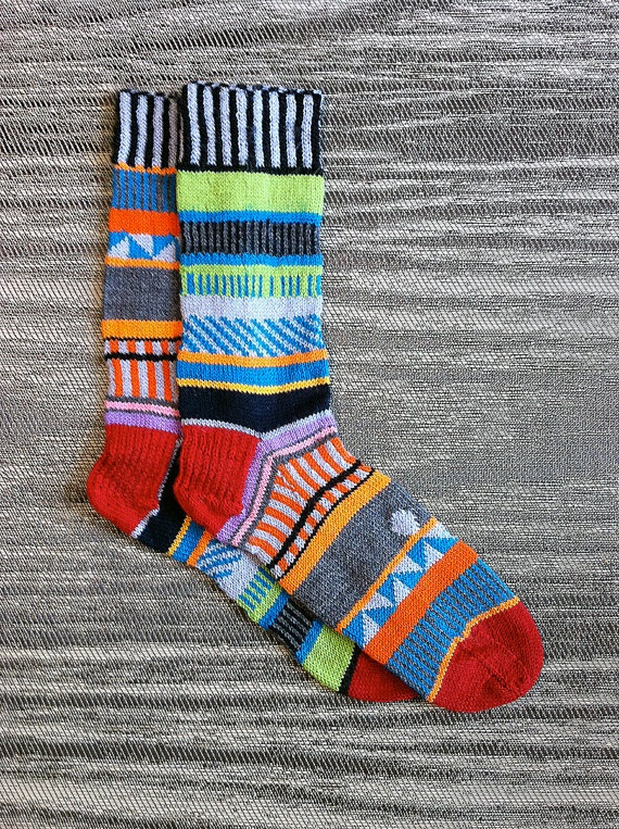seriously intense socks. seems as if something like this would be really fun to knit.