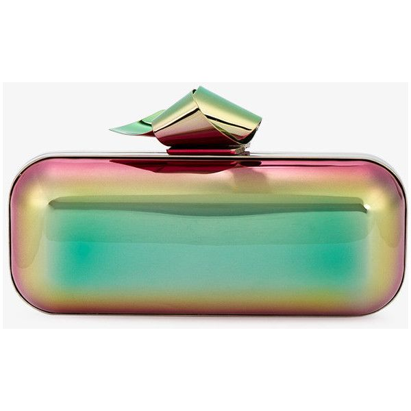 Jimmy Choo Cloud Tube Clutch (35.590 ARS) ❤ liked on Polyvore featuring bags, handbags, clutches, metallic purse, green clutches, jimmy choo clutches, green purse and jimmy choo handbags