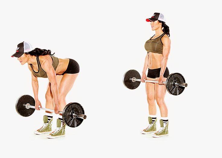 Le soulevé de terre jambes tendues est un exercice de musculation qui sollicite les fessiers et les muscles érecteurs du rachis