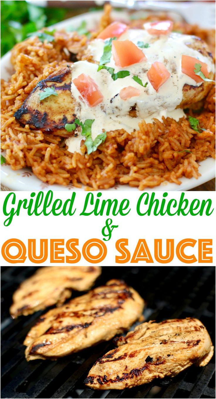 Grilled Lime Chicken with Queso Sauce recipe from The Country Cook with @BTBouillon and my Lazy Girl's Hack to 4th of July Barbecues and Celebrations! #ad
