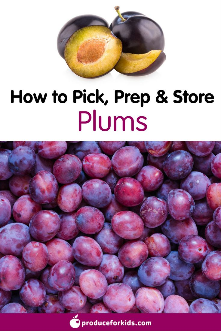 How to Pick, Prep & Store Plums + nutrition information, recipes, fun facts and more!