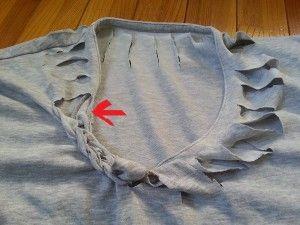 Tシャツリメイク!捨てる前に編み込みのやり方を研究してみた
