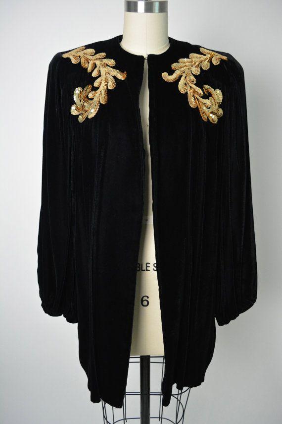 Vintage 1930s 30s Women's Evening Jacket by littlestarsvintage