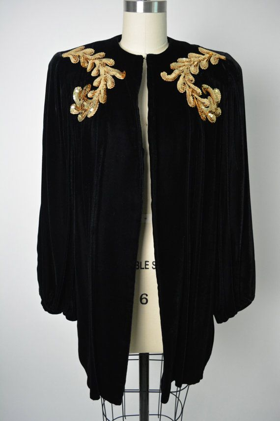 Vintage 1930s 30s Women's Evening Jacket by littlestarsvintage