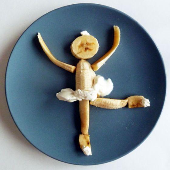 Banana food art via: Lunalu's Diary: Funny Food Art Image 2