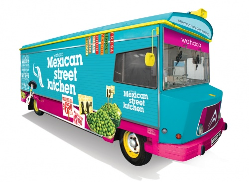 Wahaca's mexican street kitchen. Ate here at the Southbank. great street food and great size portions. Can't wait to try one of the restaurants