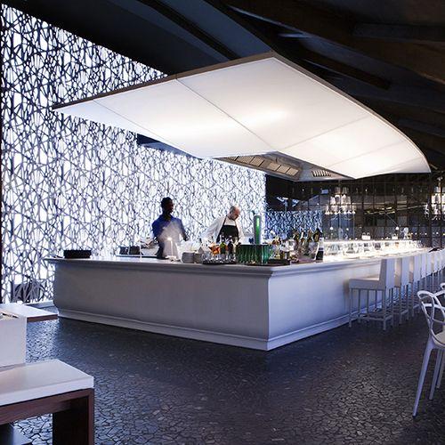 celosía - interiorismo comercial - diseño de restaurantes