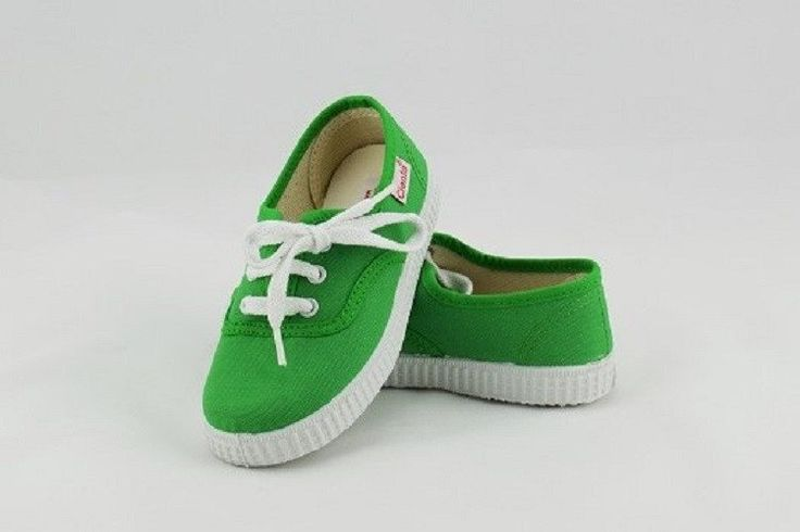 Lace up canvas shoe - Green