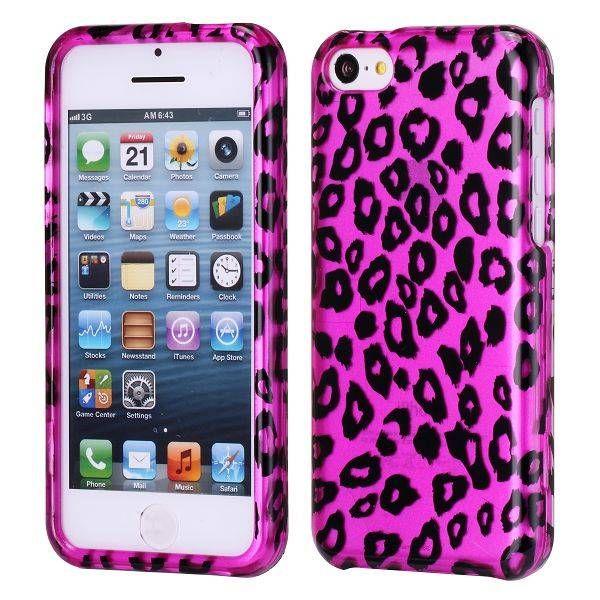 Roze luipaard patroon hardcase hoesje iPhone 5C