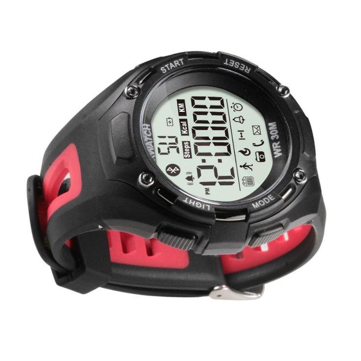 Xwatch Bluetooth 4.0 Waterproof Outdoor Sports Smart Watch Red