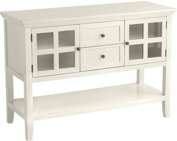 Pier 1 Imports Ronan Antique White Small Buffet Table