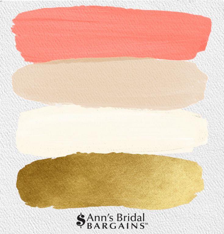 Het perfecte palet: koraal, goud, ivoor en beige