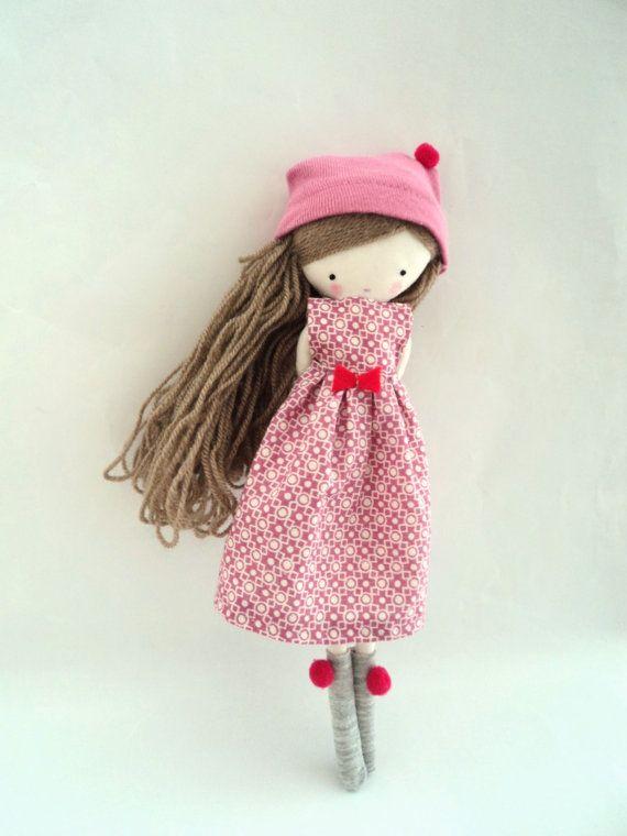 Isabella muñeca de tela ropa vestido rosa por lassandaliasdeana