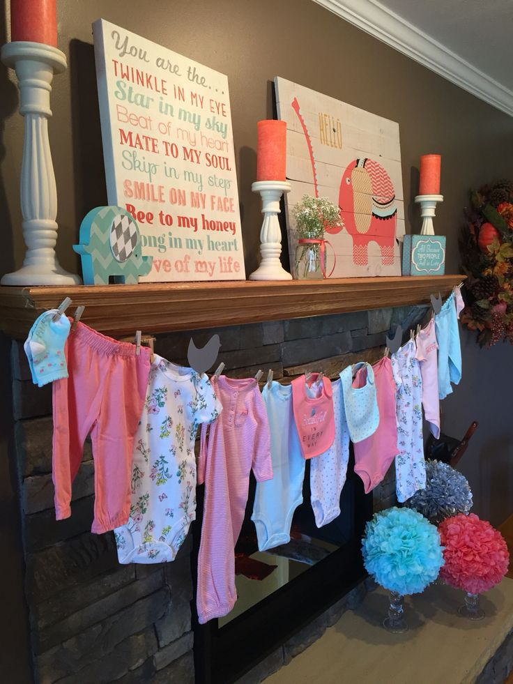 1000 ideas about baby shower clothesline on pinterest for Baby clothesline decoration