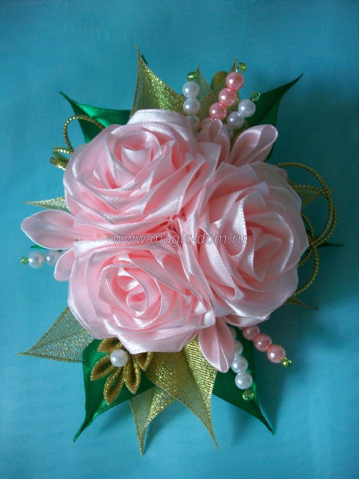rosa kanzashi