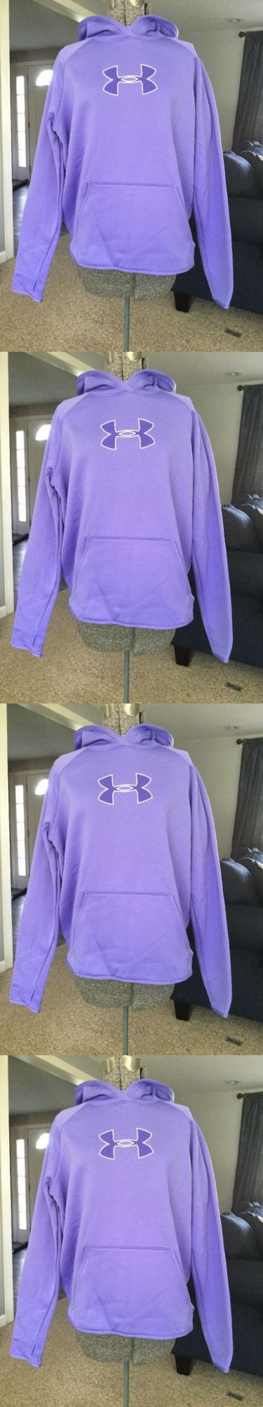 Hoodies and Sweatshirts 59325: Under Armour Purple Womens Hoodie Size L A12 -> BUY IT NOW ONLY: $39 on eBay!